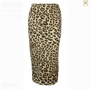 Macy's Made for Impulse Leopard Pencil Skirt
